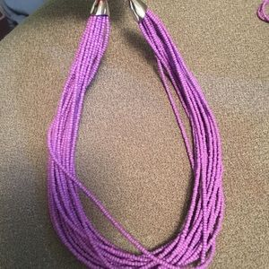Chunky purple necklace never worn
